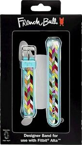 French Bull Fitbit Alta / HR Band Multicolor 3D Silicone Stainless Steel Buckle