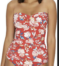 New Lauren Ralph Lauren Swimwear Tankini 2 pc Red Floral set UK Size 16 Us 12.