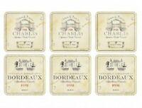Pimpernel Vin de France Coasters, Box of 6