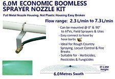 6M ECONOMIC  SWATH BOOMLESS FLAT SPRAYER NOZZLE KIT 2.3L WEED SPOT SPRAY TANK
