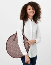 Joules Womens Fulbrook Round Tweed Bag - Pink Tweed - One Size
