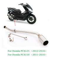 Stainless Steel Motorcycle Exhaust System Fornt Link Pipe For Honda PCX 125 150