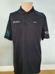Mens Nike Golf Tour Performance Polo Shirt Top Sponsors Dri-Fit Medium