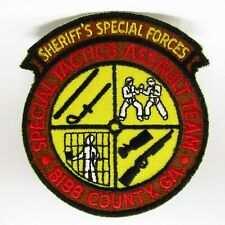 Vintage Patch - Sheriff's Special Forces - Embroidered Weapons & Fight Scene