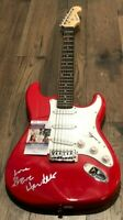 Steve Hackett Of Genesis signed Red Electric Guitar W/ JSA COA