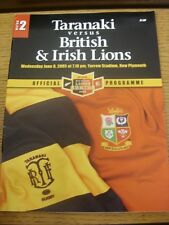 08/06/2005 Rugby Union Programme: Taranaki v British And Irish Lions [At Yarrow