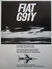 4/1966 PUB FIAT AVIAZIONE FIAT G.91 Y / WESTLAND WASP MARINHA BRASIL GERMAN AD