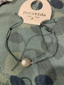NEW Pura Vida Pretty In Pearl Bracelet Charm On Blue