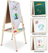 Drawing Board Kids Whiteboard Wooden Magnetic Blackboard Double Side Accessories
