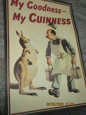 "Vtg Rare Original My Goodness My Guinness Dublin Beer Poster Ireland 20"" x 30"""