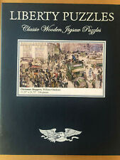 """Liberty Wooden Jigsaw Puzzle - """" Christmas Shoppers"""" by William Glackens"""