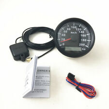 Car Motor Stainless GPS Speedometer Odometer Digital Gauges Red Backlight