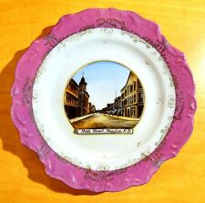 MAIN STREET MONCTON NEW BRUNSWICK NB CANADA Souvenir China PLATE Made Germany