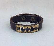 New Batman Leather Bracelet Jewelry, Wrist Wrap, Genuine Leather
