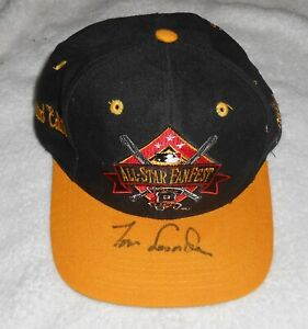 TOM LASORDA DODGERS SIGNED AUTOGRAPHED L/E 1994 ALL-STAR FANFEST CAP HAT NO COA