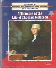 New A TIMELINE OF THE LIFE OF THOMAS JEFFERSON Timelines of American History HC