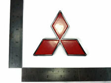 FOR MITSUBISHI RED LANCER PAJERO SHOGUN COLT LOGO BADGE DECALS PLATE STICKER