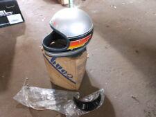 Vintage NOS Buco Size Large Silver w/ Design Fiberglass Full Face Racing Helmet