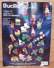 Vintage Genuine Bucilla (83665) Christmas Toys Felt Ornament Set / Kit READ