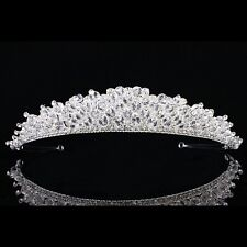 Sparkling Bridal Pageant Rhinestone Crystal Prom Wedding Crown Tiara 8885