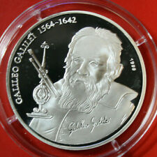 "Tchad Tschad 1000 Francs 1999 Silber KM# 16 PP-Proof  #F3795 ""Galileo Galilei"""