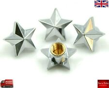 Silver Star Alloy Car Wheel Tire Tyre Valve Dust Caps Covers Tire Set of 4 UK