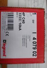 LEGRAND 407902 Disjoncteur DX³6000 10kA  4P C40