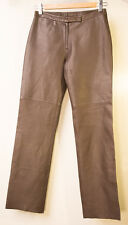 BCBG MAX AZRIA Genuine Leather Pants Womens Brown Size 0