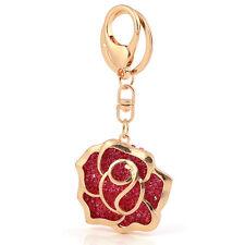 femmes sacs-cadeaux clés breloques cristal large doré rose rouge Porte-clefs