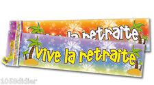 Banderole VIVE la RETRAITE Décoration de Salle Guirlande Bannière
