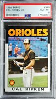 1986 Topps Cal Ripken Jr PSA 8 NM- Mint HOF Baltimore Orioles Great Card!