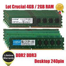Lote crucial 4GB 2GB DIMM de memoria RAM de Escritorio Intel DDR2 DDR3 667 800 1333 Mhz @ST