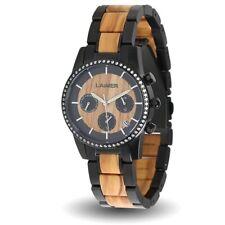 LAiMER Damen Oliven-Holz Armbanduhr Chronograph - 0135 Klara