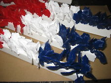 12 x RED WHITE BLUE ON TRACKS GARNISH FOOD DISPLAY DELI SANDWICH COUNTER FISH