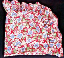Ralph Lauren Falmouth Red Floral Euro Ruffle Pillow Sham Case