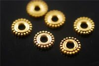 FREE Golden Metal Beads Loose Spacer Craft Jewelry Charms Findings 6x1mm 100pcs