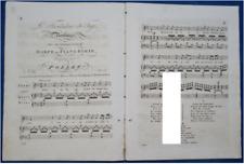 PIANO HARPE CHANT DUO PARTITION LE TROUBADOUR DU TAGE BENOÎT POLLET 1822 LONDON