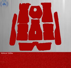 Carpet Set for Alfa Romeo Gulia Sprint Gt/Gtv Bertone 2.Serie Velour Red