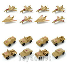 16 pcs Military Vehicle Airplane Models Plastic Toy Soldier Army Men Accessories