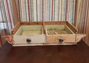 Antique Under Kitchen Cabinet 2 Drawer Storage