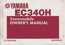 1984 YAMAHA EC340H SNOWMOBILE OWNERS MANUAL LIT-12628-00-58 (868)