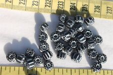 7x4~5mm 6 Layer Black & White Chevron Glass Rondelle Beads /35 beads