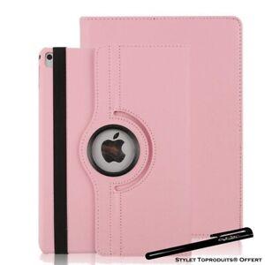 Housse Etui Rose pour Apple iPad mini 1/2/3 Coque avec Support Rotatif 360°