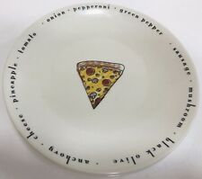 Set of 4 Ceramic Pizza/Salad Plates by Designpac Inc.