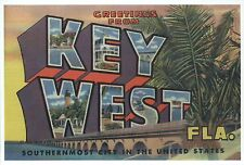 Greetings from Key West Florida Southernmost City - Modern Large Letter Postcard