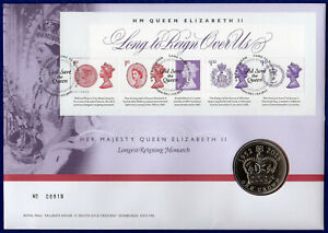 Great Britain, 2015 BU £5 Coin Cover, Longest Reigning Monarch (Ref. t4202)