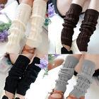 Winter Warm Women Knit Crochet High Knee Leg Warmers Leggings Boot Socks Pretty