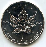 Canada 2010 Coin $5 Maple Leaf .9999 Fine Silver 1 oz Coin bullion ounce BD832