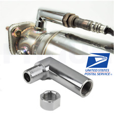 90 Degree Steel Oxygen Sensor Extender M18x1.5 Car Exhaust O2 Check Engine Fix