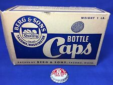 Box of 150 Vintage Clicquot Club Ginger Ale Cork Bottle Caps Unused Tacoma WA